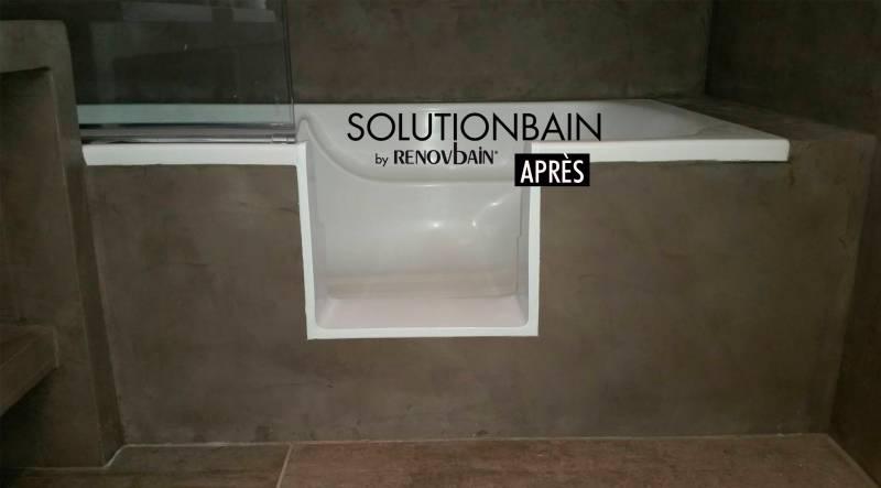 Installation Coque Acrylique Sur Mesure Pour Baignoire Nice